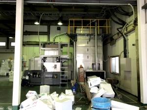 発泡リサイクル 減容機導入