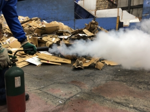 廃棄物処分消防訓練