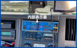 計量器付きパッカー車内部表示器